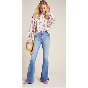 Anthro Pilcro High Waisted Bootcut Slim Jeans 27